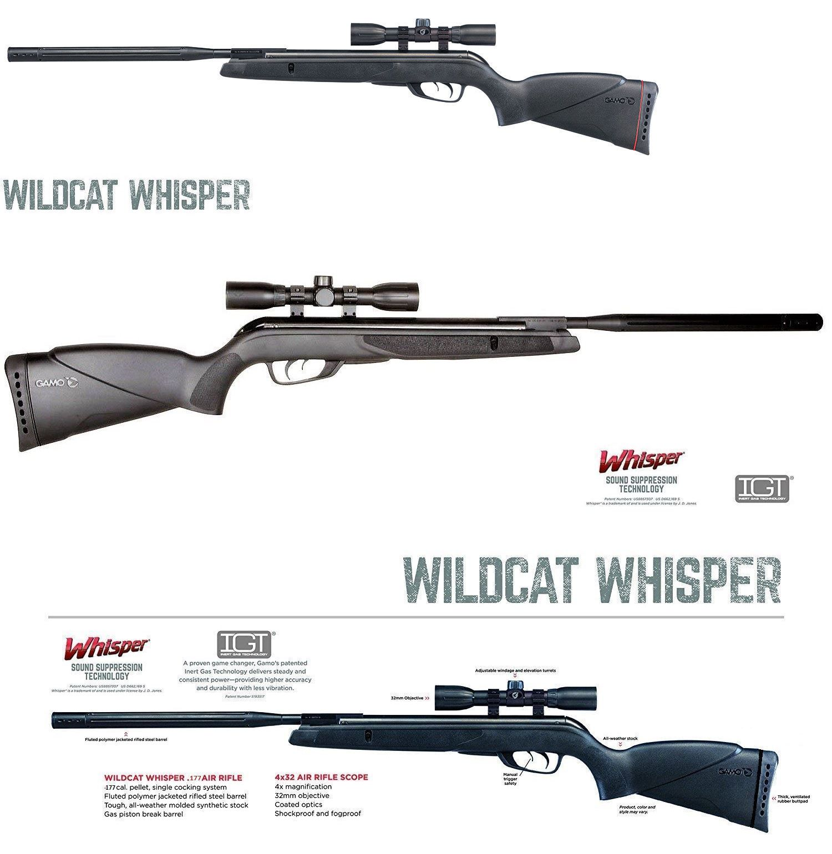 Air Rifles 178888: Gamo Wildcat Whisper  177 Cal 1300 Fps W