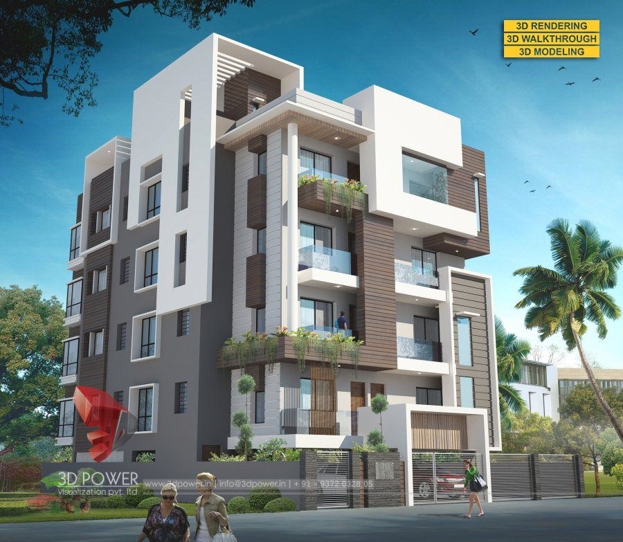 Ultra Modern Home Exteria: Pin By 3D Power On Shining Glory: Apartment Render Designs