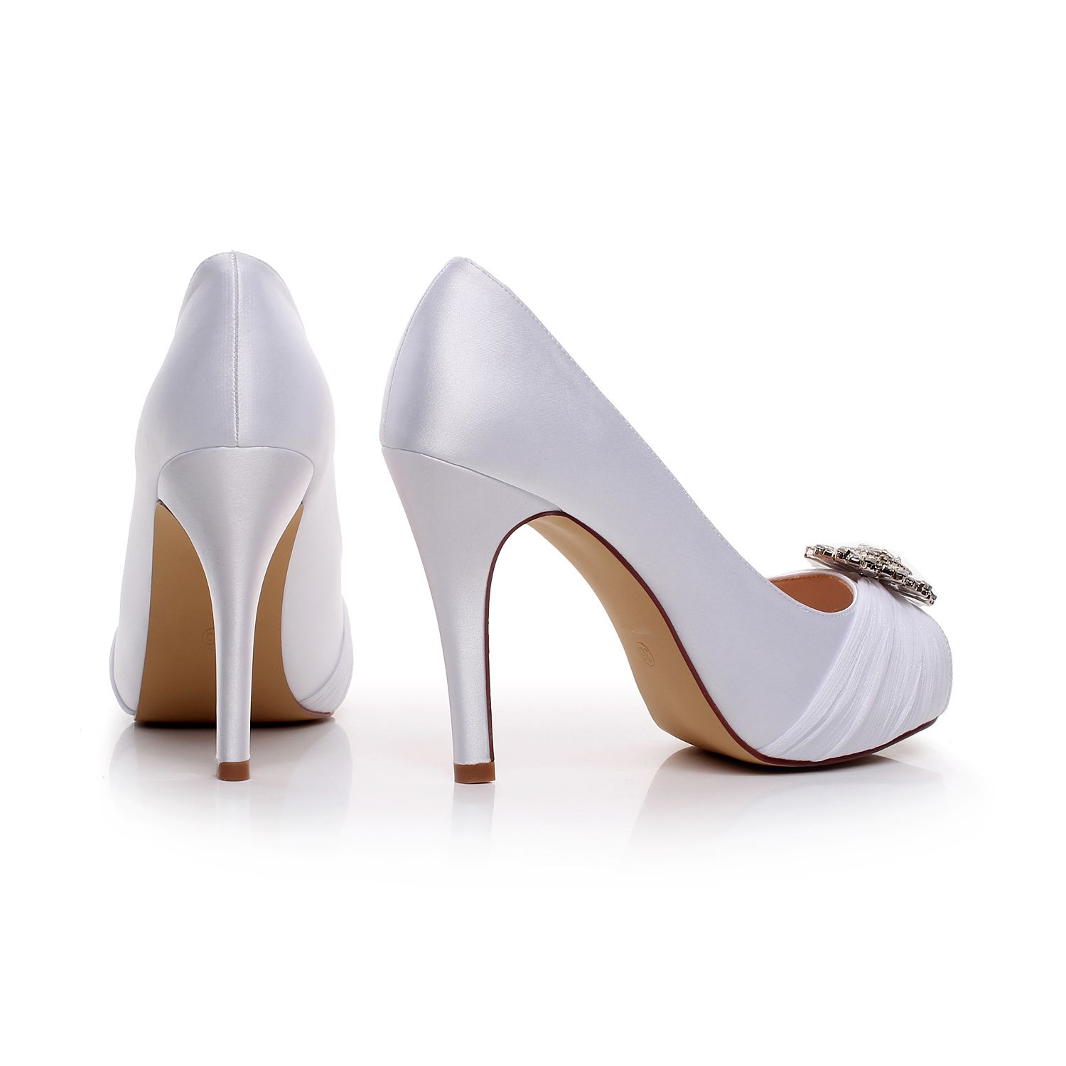 "satin Heel measures approximately 4.5 inches"" bridal shoes heel high : 4inch wedding shoes for bride Fashion Design Dress Shoes for Party,Wedding Unique Design Wedding shoes for Women Heels: 4.5inch - Size: from US5-10/EUR35-42"