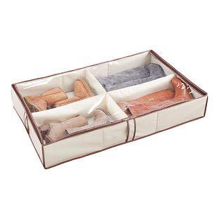 4-Compartment Underbed Shoe Organizer  sc 1 st  Pinterest & 4-Compartment Underbed Shoe Organizer | Shoes organizer Container ...