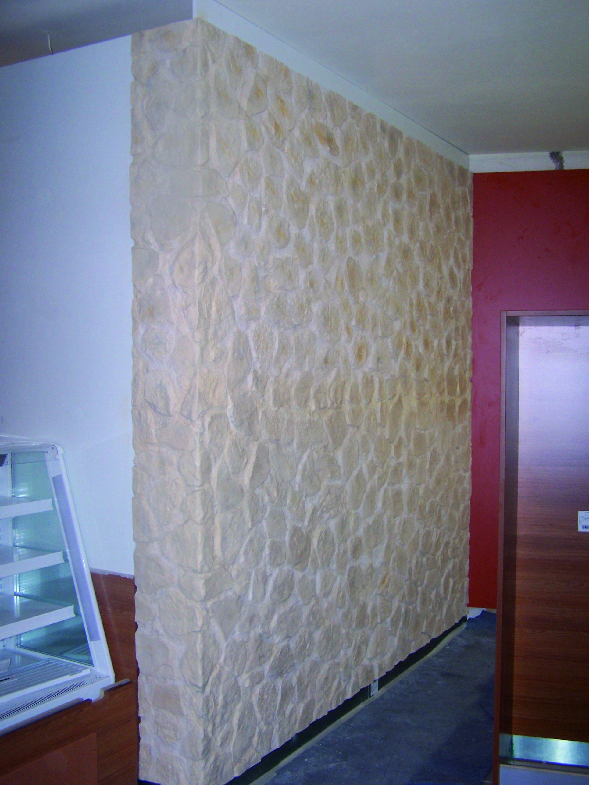 13 Wandgestaltung mit steinoptik
