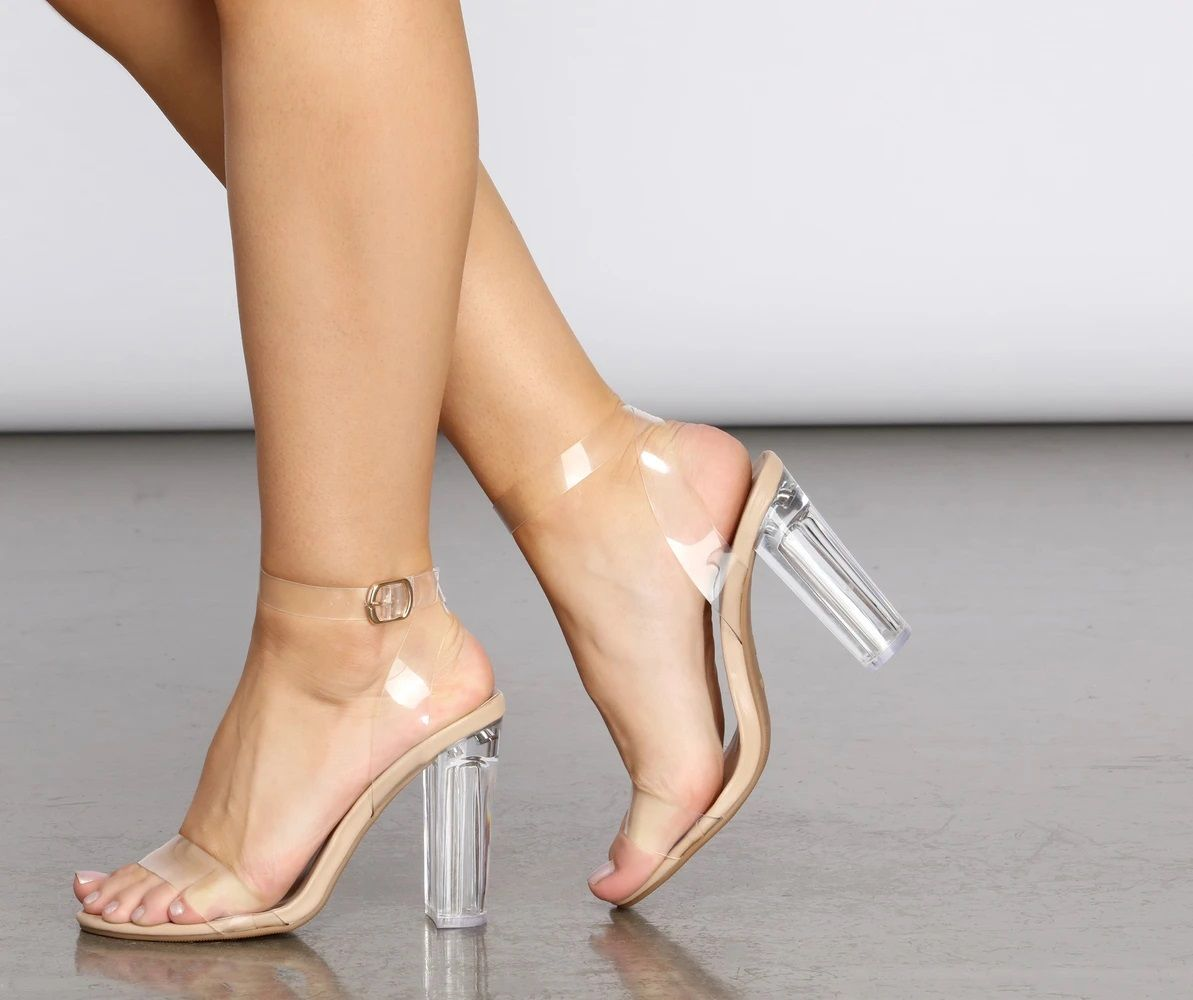 Let Me Be Clear Lucite Heels in 2020