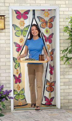 Butterfly Instant Mesh Magnetic Closure Screen Door Great Idea