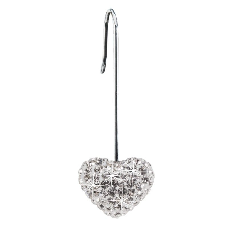 Blomdahl NT Straight Pendant Crystal Heart 12mm White J