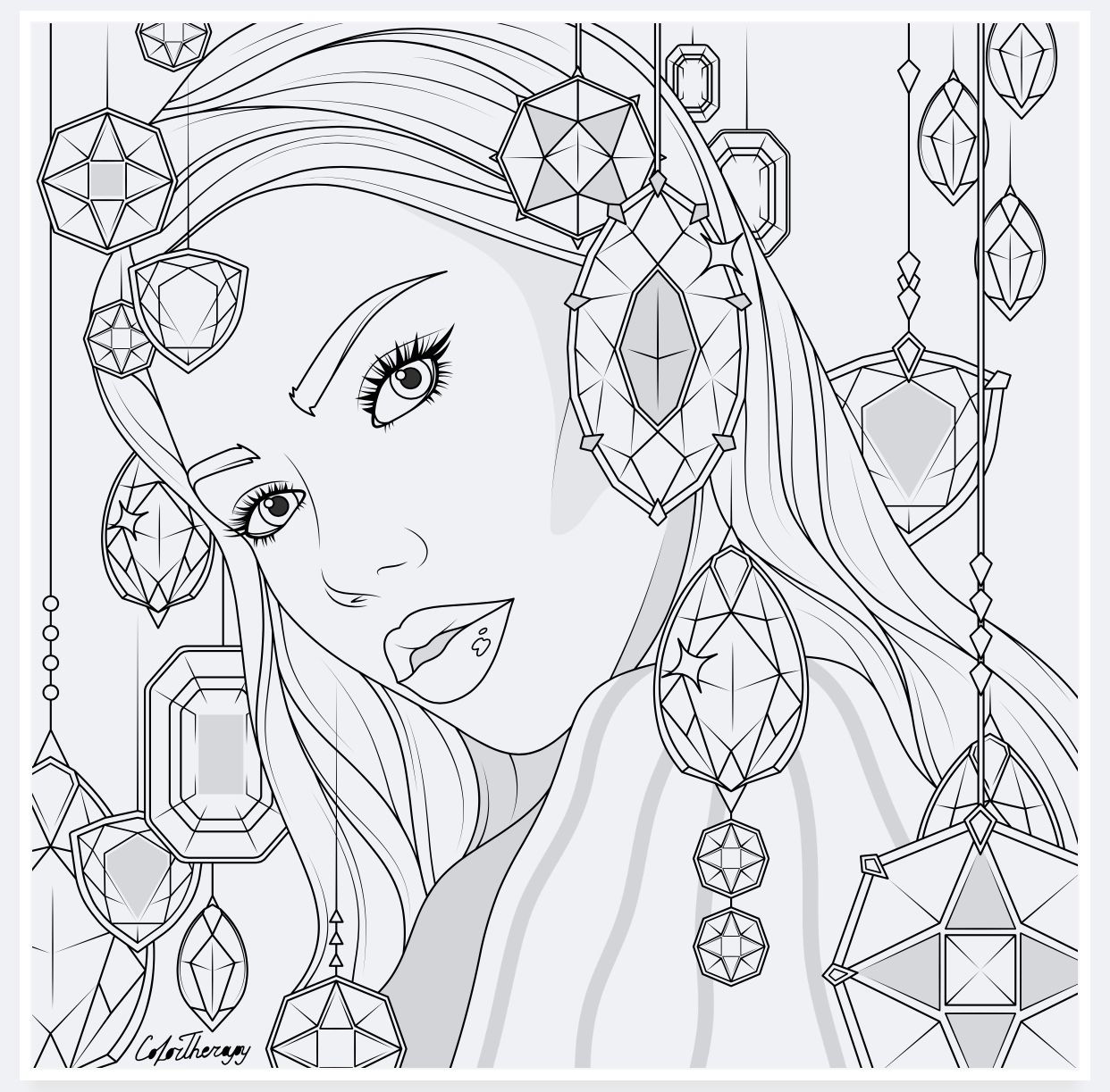 Colortherapy Cute Coloring Pages Free Coloring Pages People Coloring Pages
