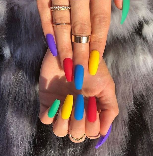 Pin By Alexis Franklin On Nails Gorgeous Nails Colorful Nail