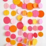 Decoración de fiestas con círculos de papel