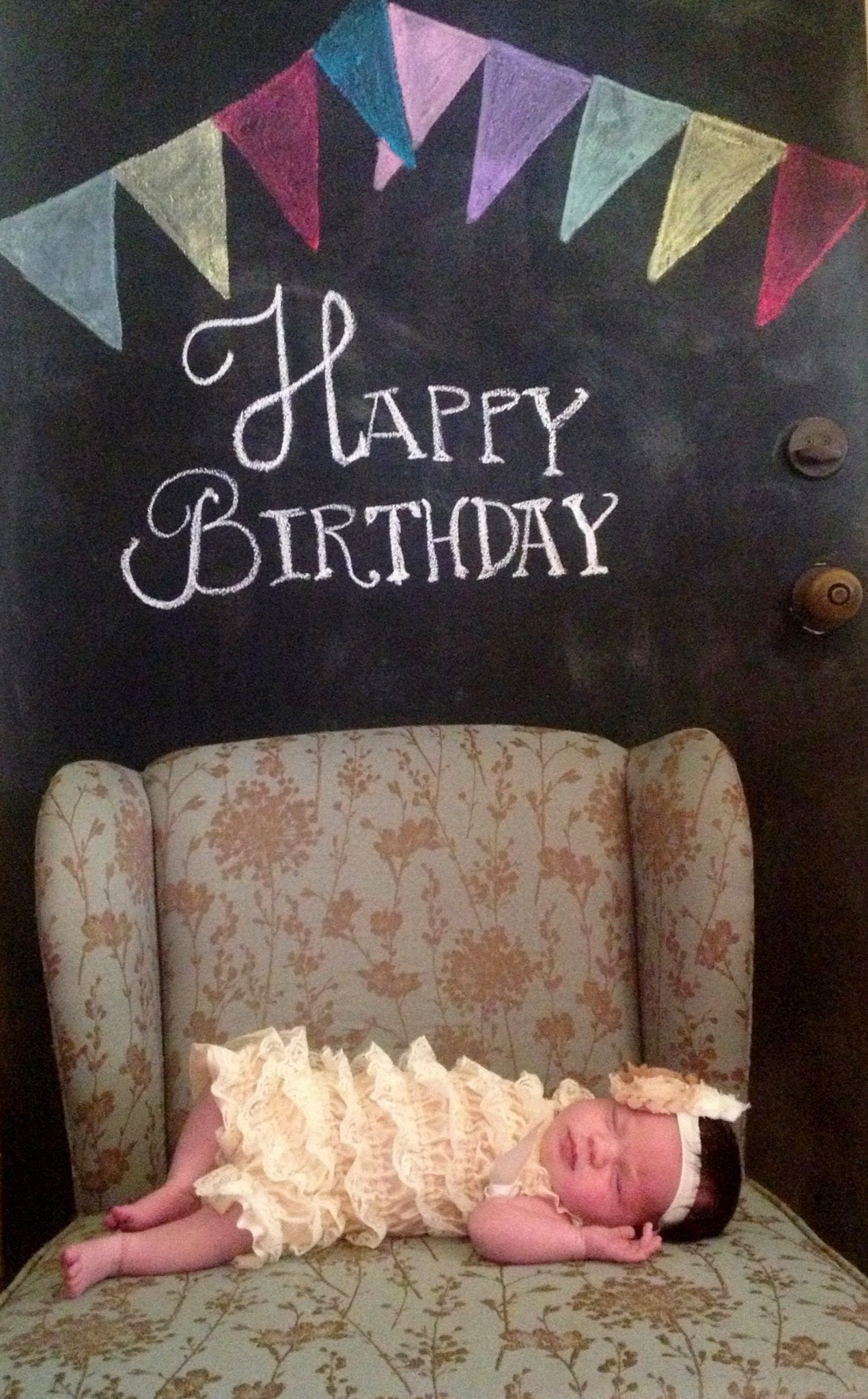 Birthday Card Chalkboard Baby Quinn Quinn Harper Collins