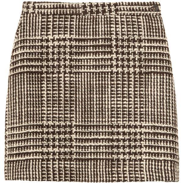Missoni Vivi wool-tweed mini skirt (1.540 NOK) ❤ liked on Polyvore featuring skirts, mini skirts, bottoms, saias, missoni, mini skirt, short mini skirts, brown tweed skirt and brown wool skirt