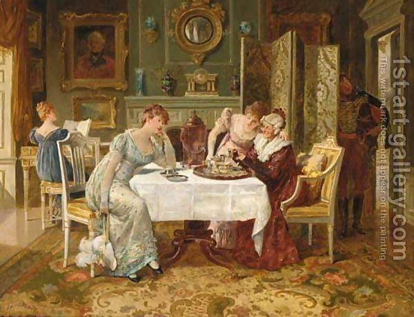 A Fortune in a Tea Cup by Henry Gillard Glindoni