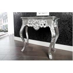 Photo of Elegante Konsole Venice 85cm silber Barock Design Anrichte handgearbeitet Riess AmbienteRiess Ambien