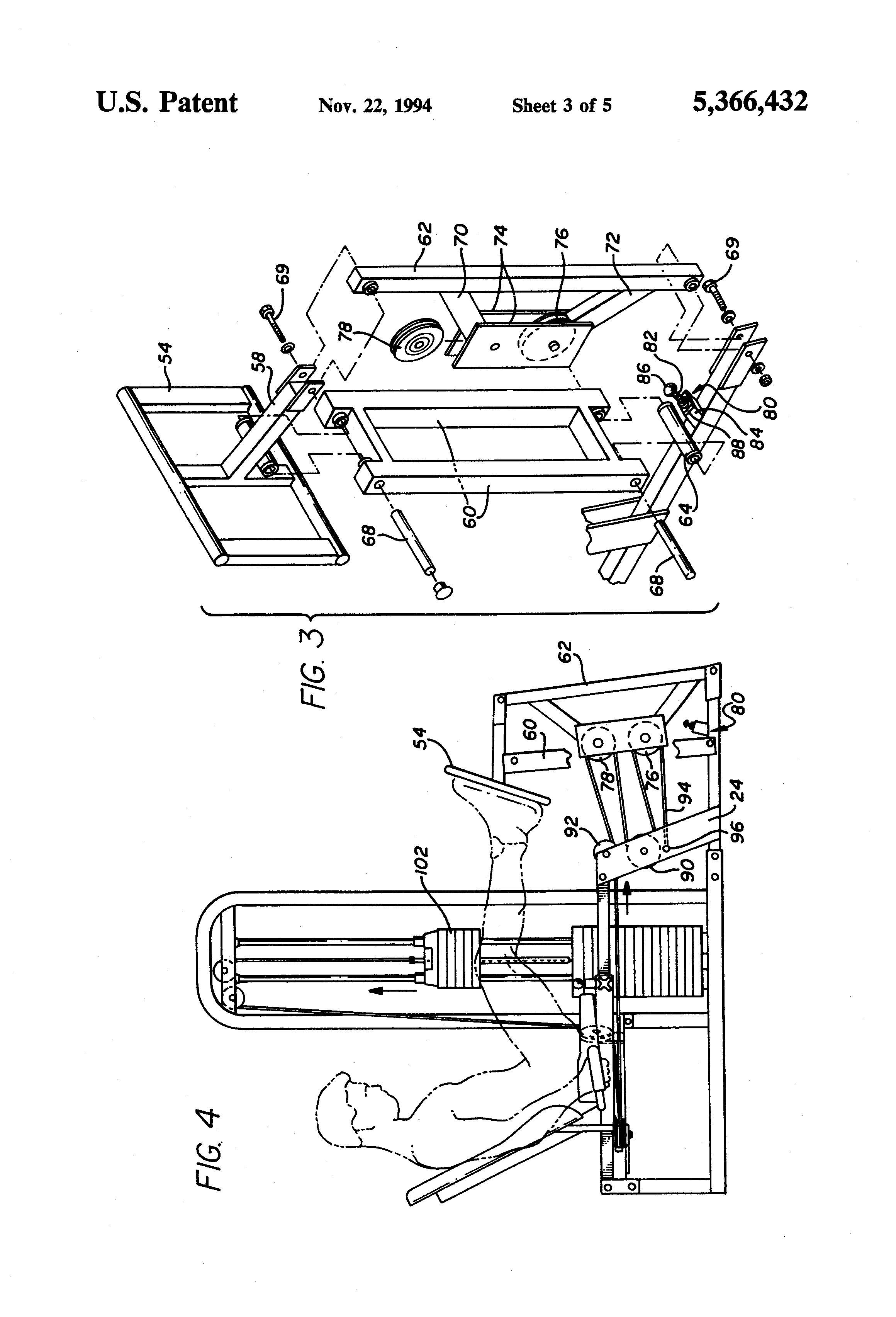 Patent US5366432 - Leg press - Google Patenten