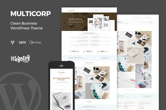 Multicorp - Clean Business WP Theme by IshYoBoy on @Graphicsauthor ...