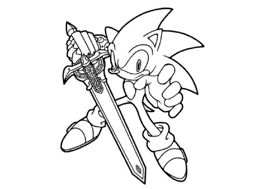 Sonic Black Knight Coloring Pages Hedgehog Colors Coloring Books Cartoon Coloring Pages