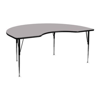 "Flash Furniture 72"" x 48"" Kidney Activity Table Finish: Grey"