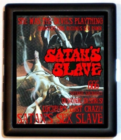 Satan's Slave Exploitation Movie Poster Cigarette Case