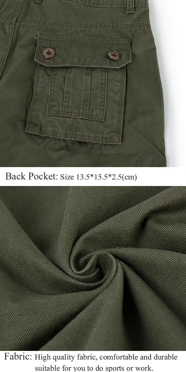5e74269d1e9c7 ChArmkpR Plus Size 30-46 Mens Casual Cotton Solid Color Big Pockets Loose  Cargo Military