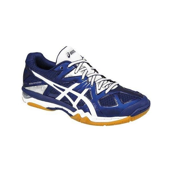 Women's ASICS GEL-Tactic Volleyball Shoe - Estate Blue/White/Silver.