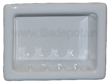 Recessed Soap Dish Porcelain White Glossy By Flooringsupplyshop Com Dish Soap Glossy Porcelain
