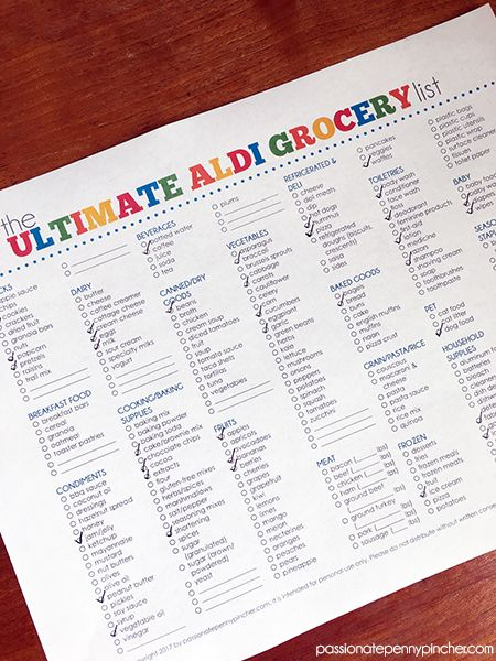 The Ultimate Aldi Grocery List Coupons and Frugal