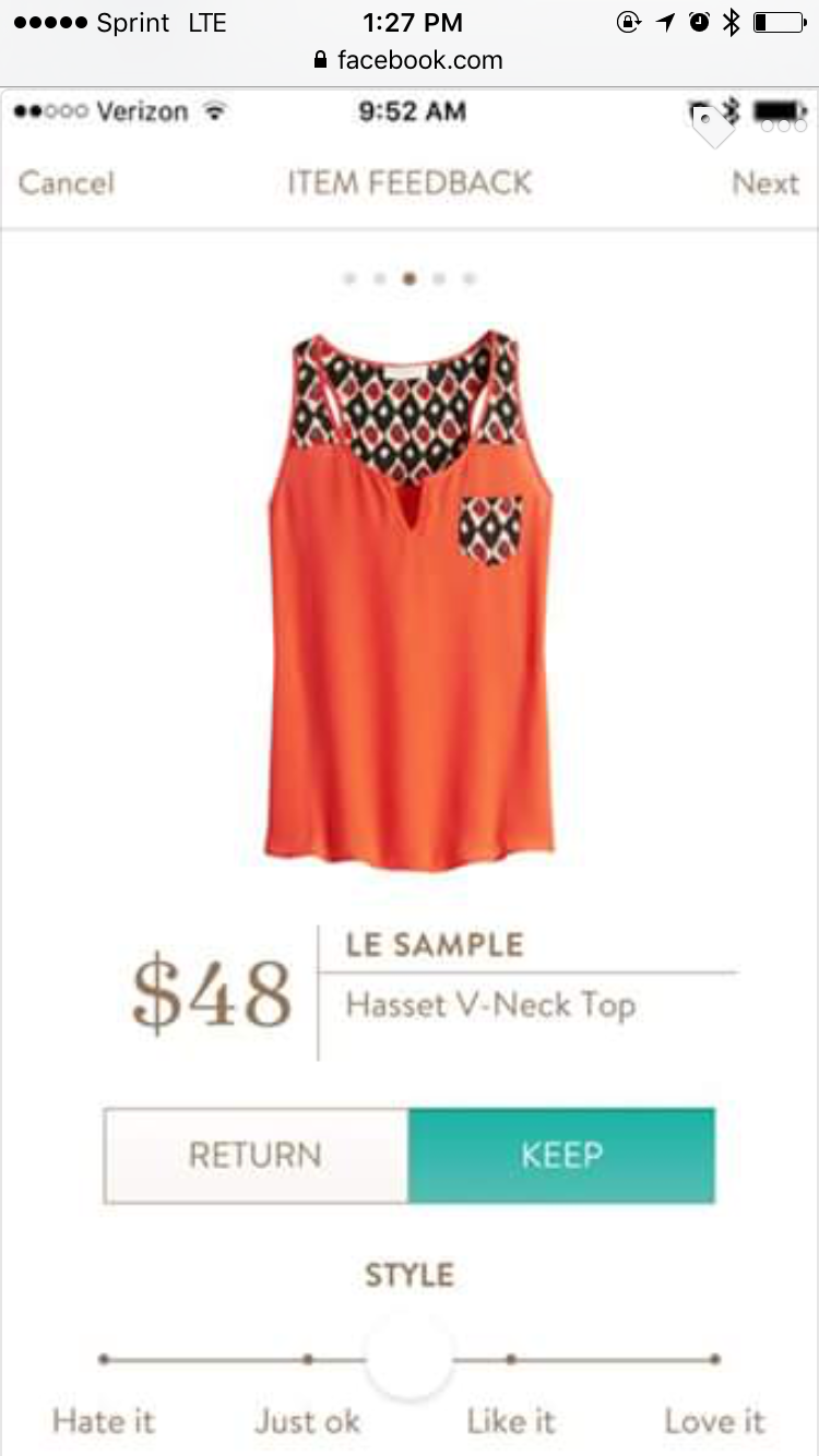I love the style and contrast of this top, but not the orange.