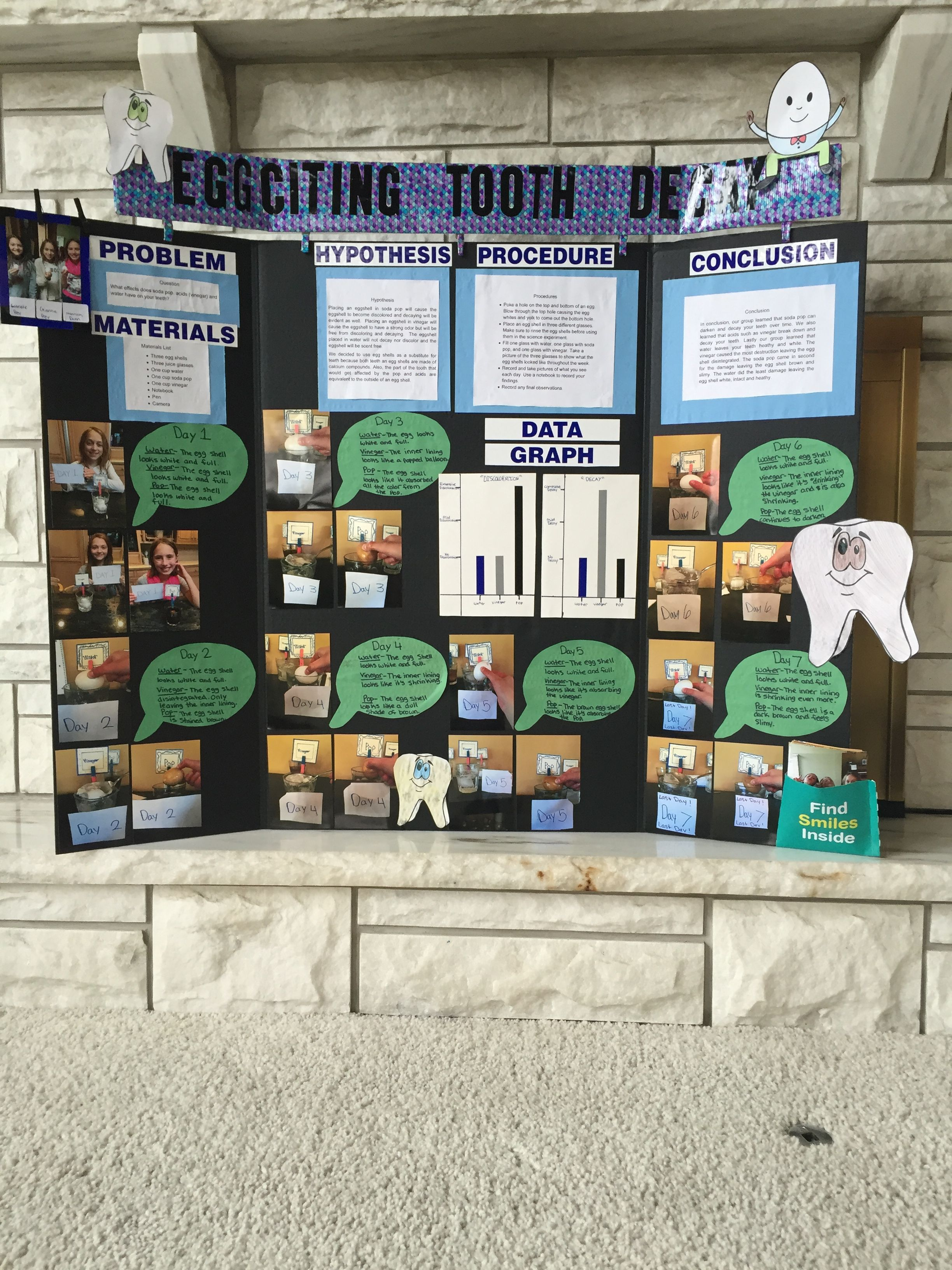 5th grade tooth decay science project stem fair projects science fair projects boards 5th [ 2448 x 3264 Pixel ]