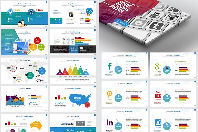 Social Media Powerpoint Template 66967 Social Media