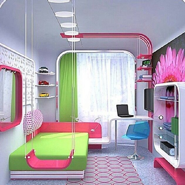 Creative Bedrooms That Any Teenager Will Love: So Cute! Definitely Putting A Swing In Her New Room