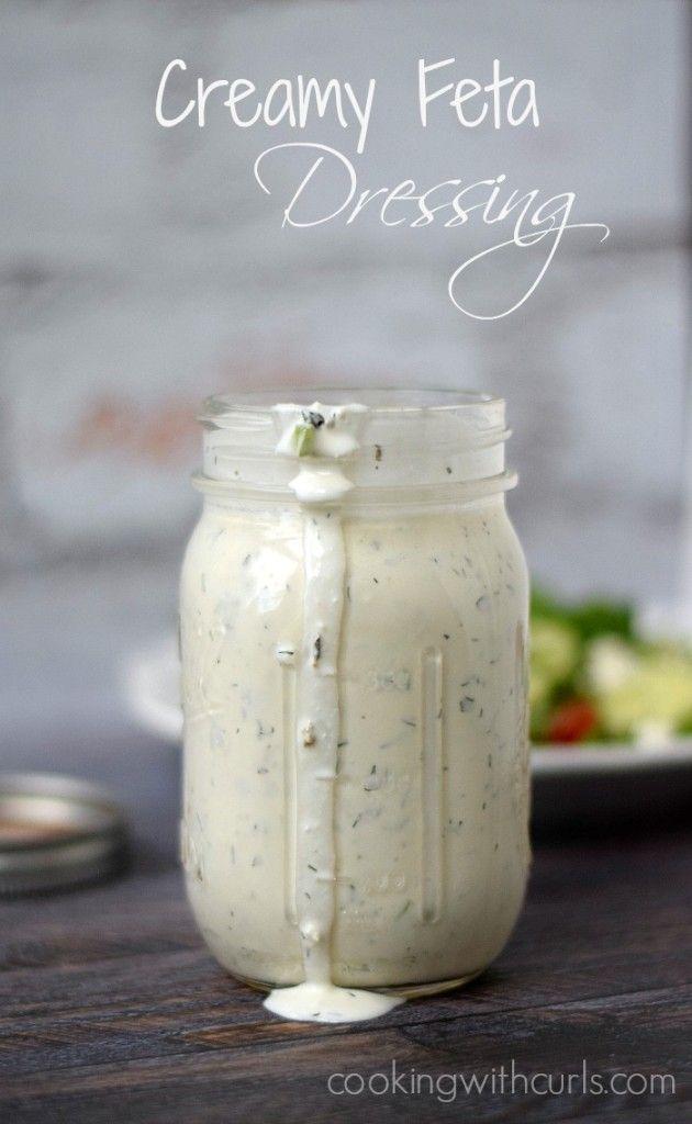 Aubrey S Favorites Creamy Feta Dressing Greek Salad Dressing Feta Salad Dressing Recipes