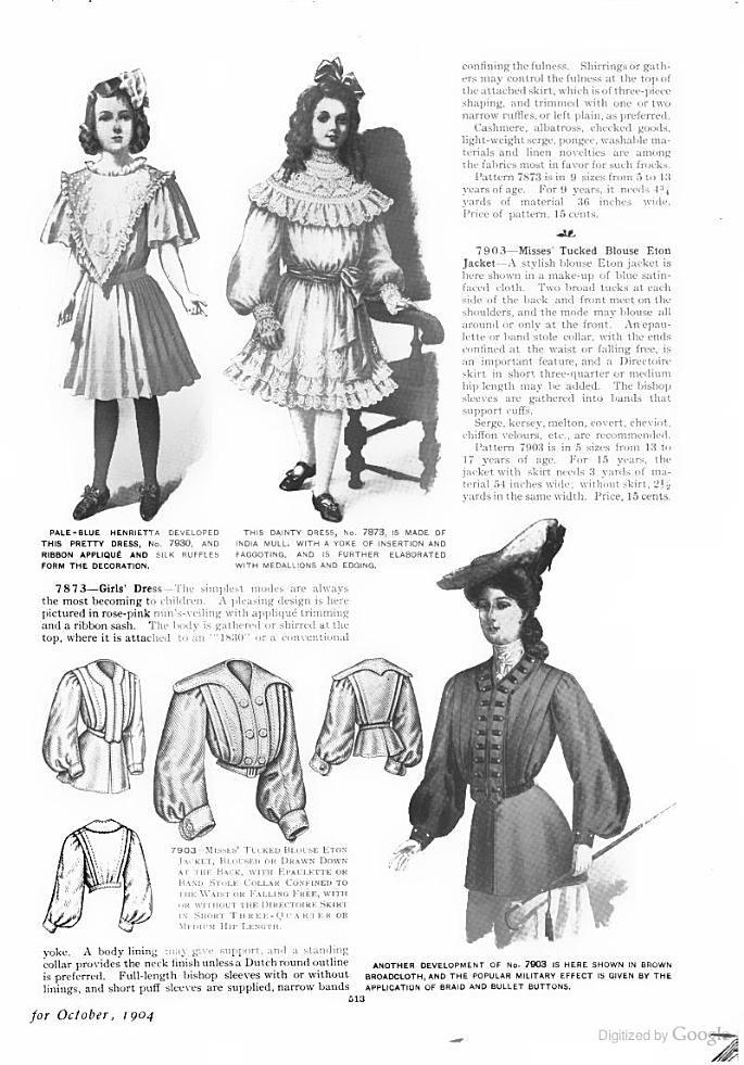 The Delineator Google Books Vintage Childrens Clothing Edwardian Clothing Edwardian Fashion