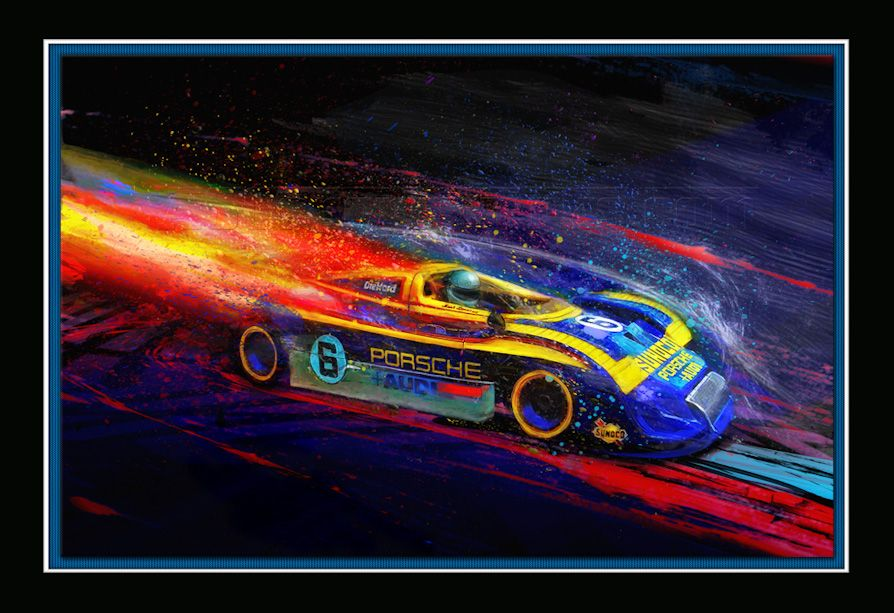 Trip the Light Fantastic with Alan Greene's Psychedelic Motorsport Art