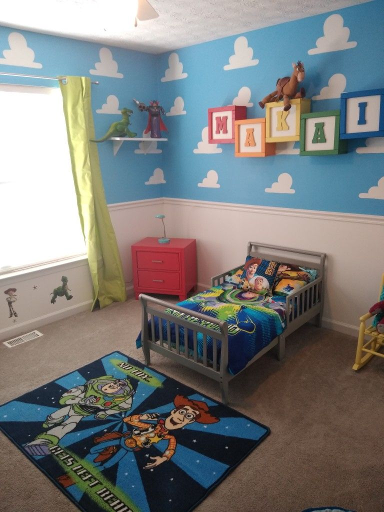 Pin By Carissa Gamble On Boy Room S Toy Story Bedroom Boy Room