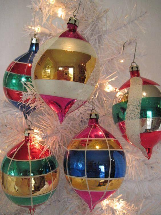 Large 1950 S Mercury Glass Vintage Ornament Baubles Vintage Christmas Ornaments Glass Christmas Ornaments Vintage Christmas