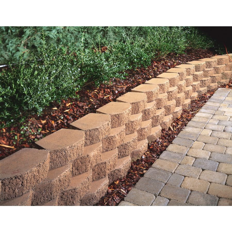 not this shop tan basic concrete retaining wall block on wall blocks id=20182
