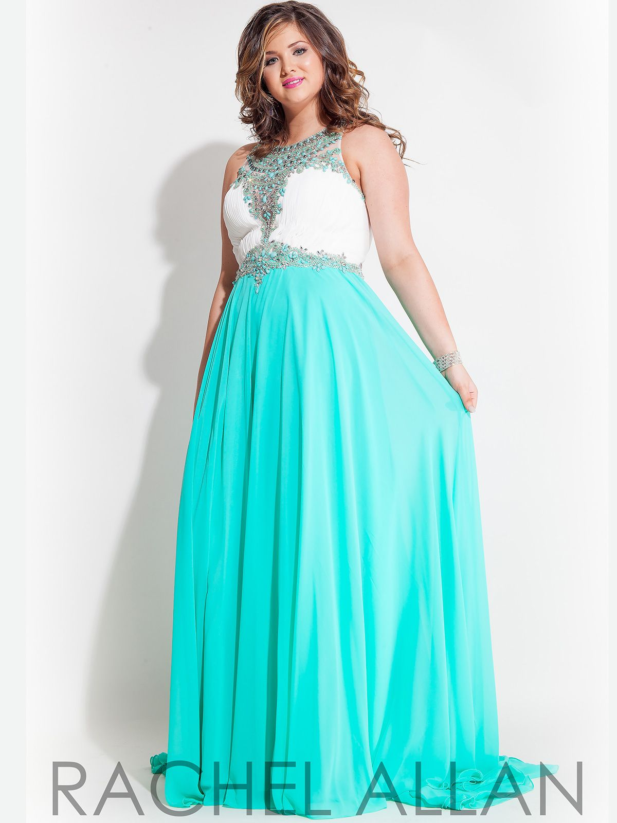 Wear this beautiful Rachel Allan plus size prom dress for a look to ...