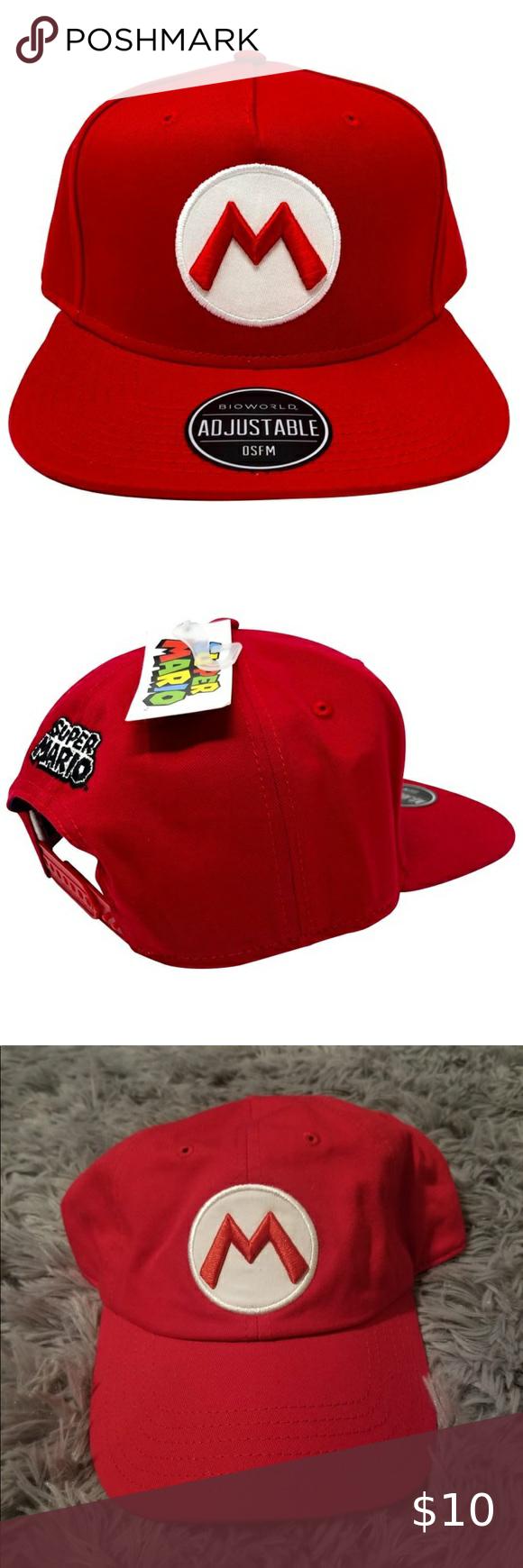 Super Mario Snap Back Hat Red Mario Hat Snap Backs Super Mario