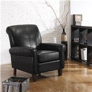 Home decorators collection brexley leather club chair recliner in espresso.