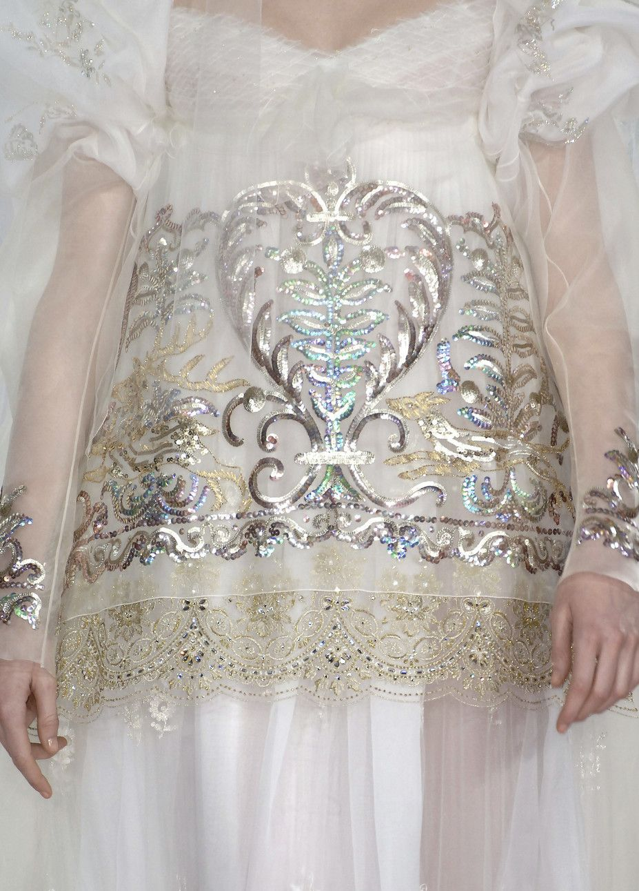 Wedding dress in Russian style by Christian Lacroix. Embroidered ...