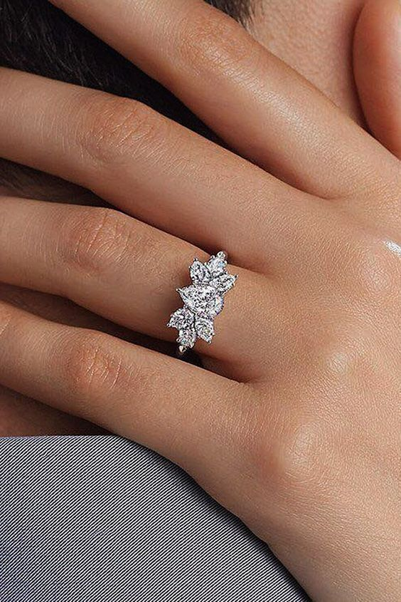 Details about Certified 2.30Ct Pear Cut White Diamond Engagement Ring in Real 14K White Gold