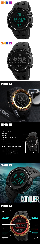 5ba148bcdcb SKMEI Brand Men s Fashion Sport Watches Chrono Countdown Men Waterproof  Digital Watch Man military Clock Relogio