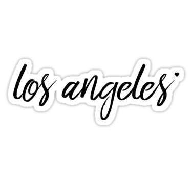 Los Angeles Sticker By Snowgraphs Los Angeles Stickers Angel