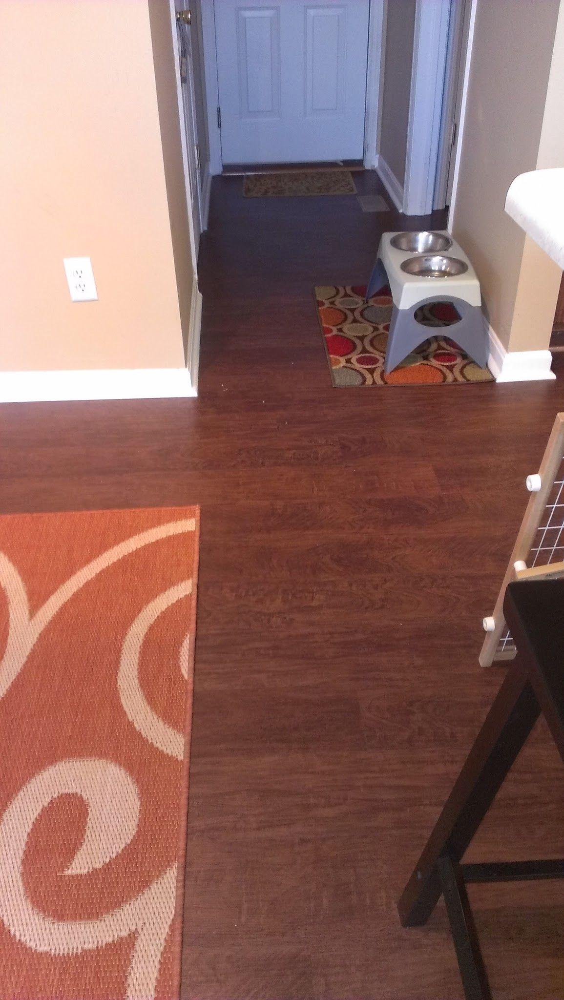 Nafco luxury vinyl plank flooring installed in kitchen in Trenton