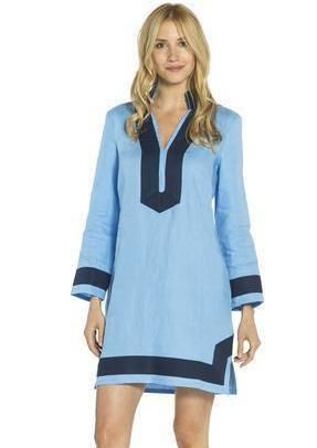 74b83463d93 Sail to Sable Classic Tunic With Sleeves - Sky/Navy | Products