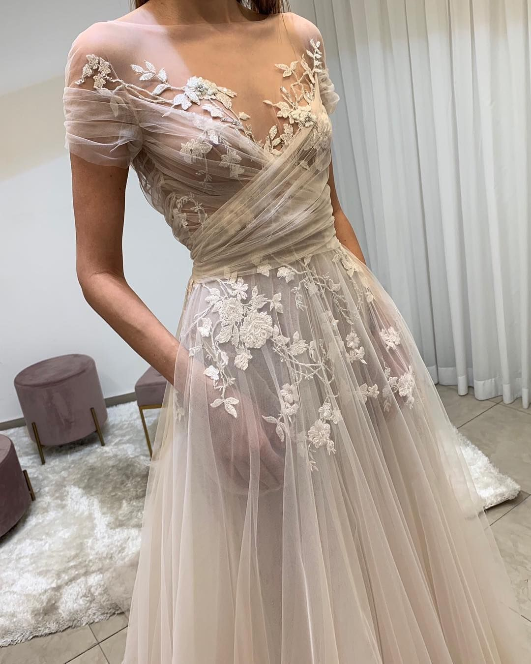 The Wedding Bliss On Instagram Wow Such A Gorgeous Gown By Lizmartinezbridal Lace Evening Dresses Perfect Wedding Dress Prom Dresses Lace