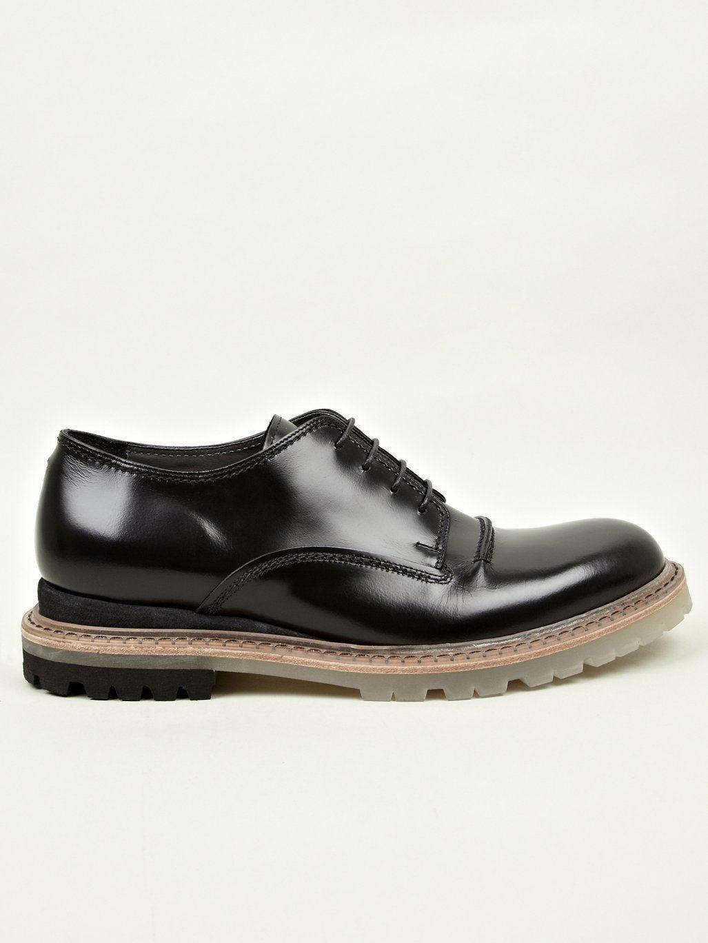 Lanvin Men S Black Leather Chunky Sole Derby Shoes Shoes Derby Shoes Leather Sole Shoes [ 1368 x 1027 Pixel ]