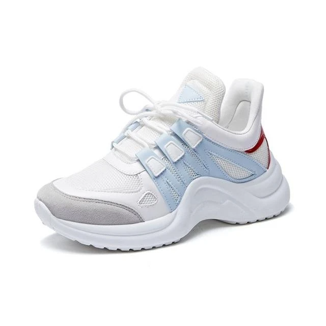 Womens Fashion Platform Sneakers Breathable Mesh Chunky Femme Gym Casual Shoes