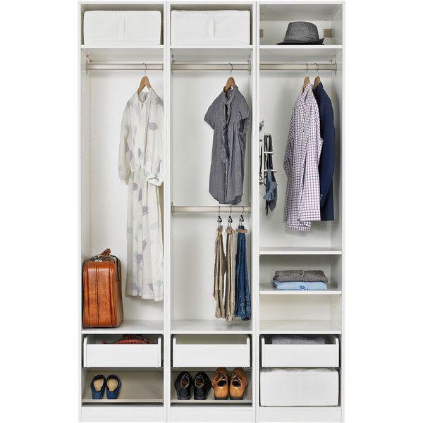 IKEA PAX Wardrobe With Interior Organizers, White