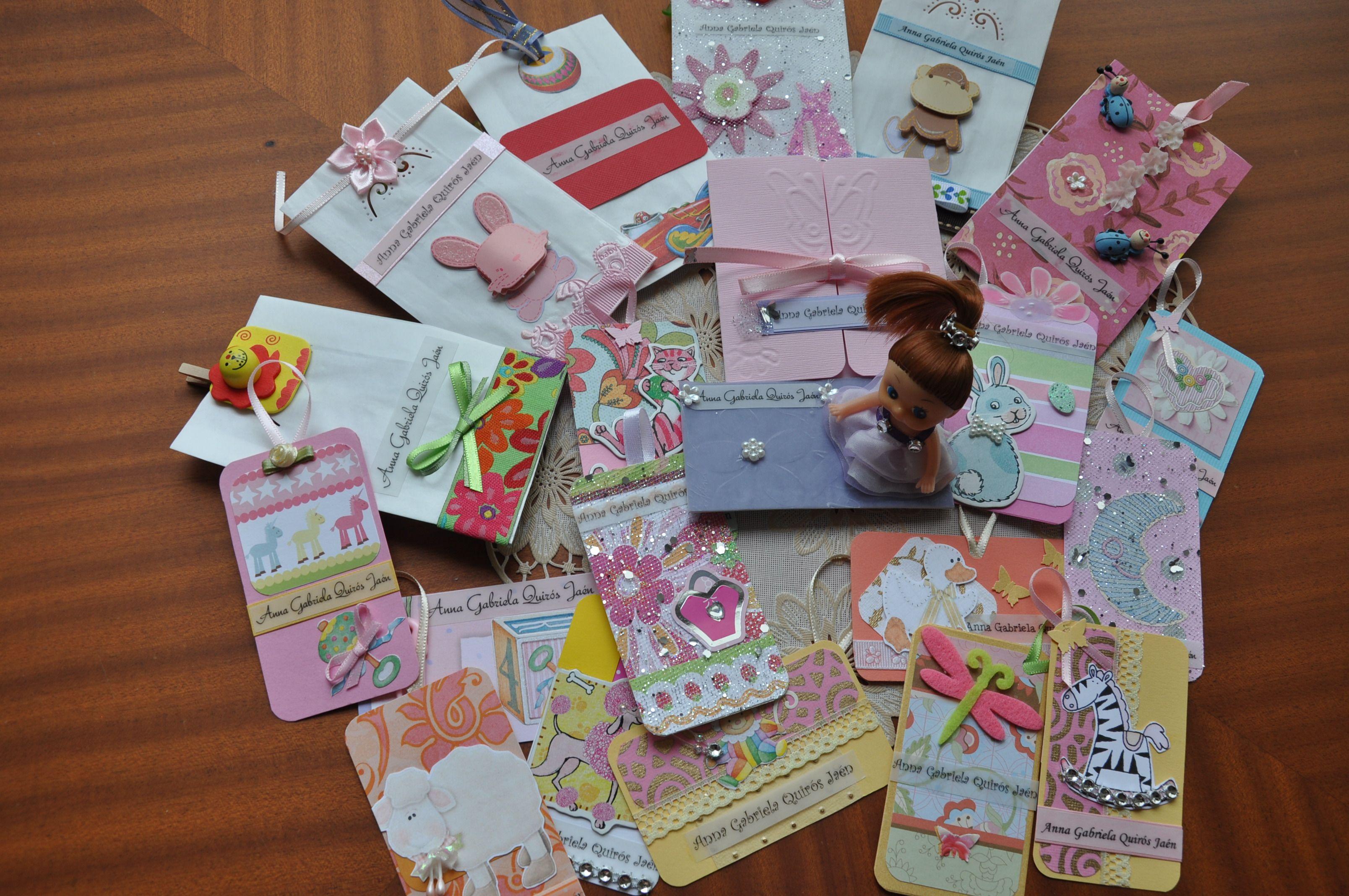 Tarjetitas y money pockets para regalos. Fácil, únicas, divertidas y llenas de imaginación.