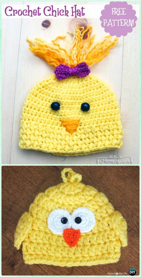 Crochet Chick Hat Free Pattern - Crochet Baby Easter Gifts Free ...