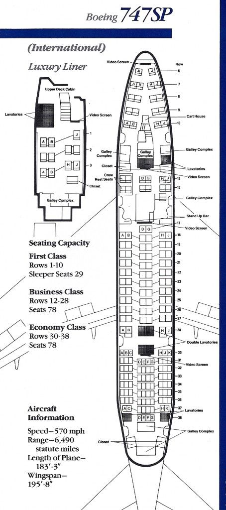 American Airlines 747 Sp Seat Chart